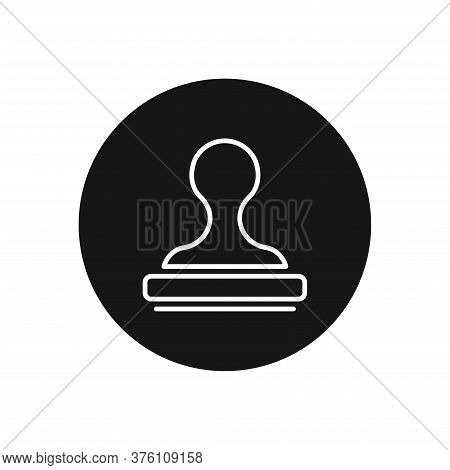 Stamp Icon Isolated On White Background. Stamp Icon In Trendy Design Style For Web Site And Mobile A