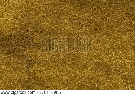 Abstract Art Background Golden Color. Watercolor Painting On Canvas With Gradient. Texture Of Old Ye