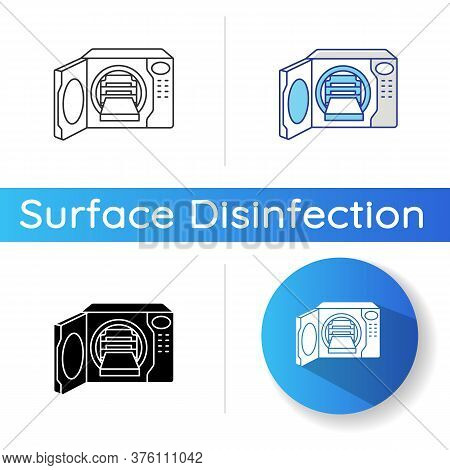 Steam Autoclave Icon. Linear Black And Rgb Color Styles. Professional Sterilization Equipment, Indus