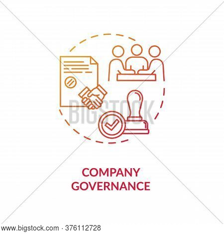 Company Governance Concept Icon. Corporate Management. Business Partnership. Board Of Directors Meet