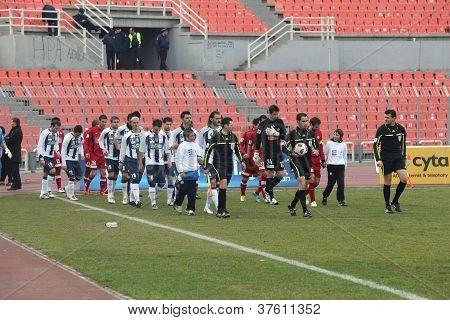 Football match between IRAKLIS F.C. and XANTHI F.C. in Thessaloniki, Greece