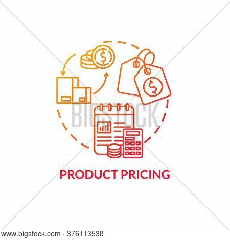 Product Pricing Red Gradient Concept Icon. Sell Merchandise. Commerce Plan. Financial Strategy. Prod