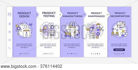 Product Maintenance Onboarding Vector Template. Technology Development. Industrial Production. Respo