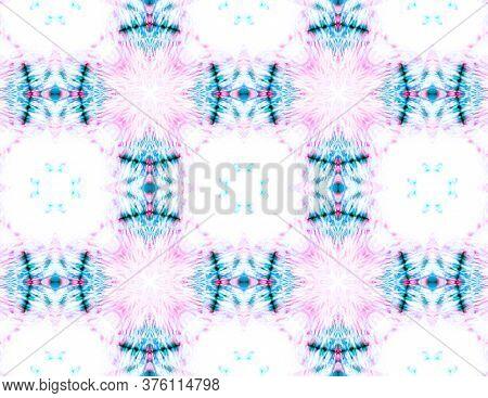 Simple Cotton Print. Patterns Lisbon Decor. Spring Floral Print. Half Seamless Shibori Style Design.