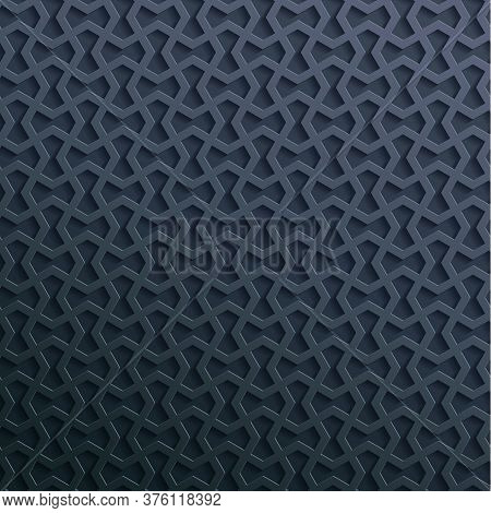 Seamless Symmetrical Abstract Vector Background In Arabian Style Made Of Emboss Geometric Shapes Wit