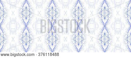 Winter Floral Rug. Mexican Mosaic Design. Ogee Geo Pattern. Blue, White Repeat  Watercolor Majolica