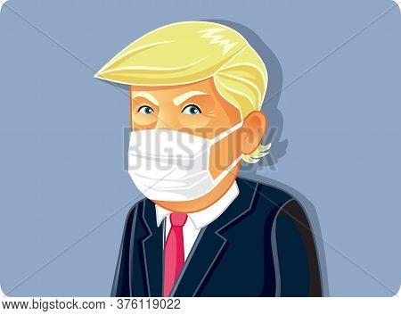 N.y.,u.s. July 13, 2020, Donald Trump Wearing Medical Mask