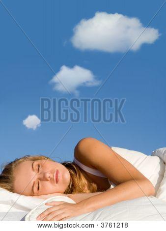 Slaap dromen vrouw