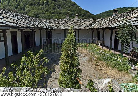 Glozhene Monastery , Bulgaria - July 21, 2012:  View Of Inner Courtyard At Glozhene Orthodox Monaste