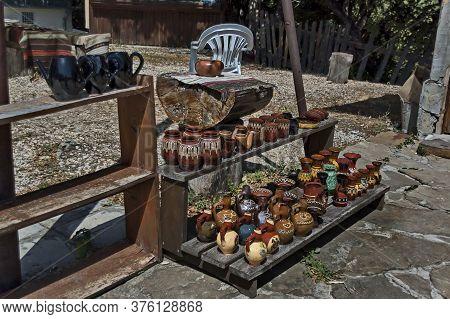 Glozhene Monastery , Bulgaria - July 21, 2012:  Outdoor Shop For Handmade Ceramic Ware Near Glozhene