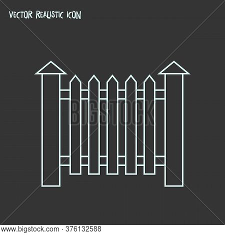 Fence Icon Line Element. Vector Illustration Of Fence Icon Line Isolated On Clean Background For You