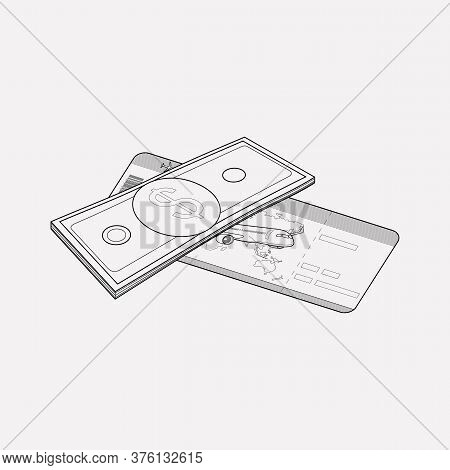 Compensation Icon Line Element. Vector Illustration Of Compensation Icon Line Isolated On Clean Back