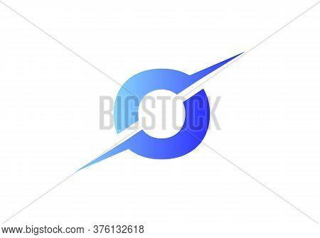 O Letter Logo With Slice Concept Vector. Colorful Slice O Letter Logo Modern, Minimal, Elegant, Bran