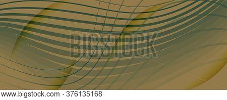 Brown Landing Page Design. 3d Flow Shapes Banner. Wave Digital Background. Army Gradient Illustratio
