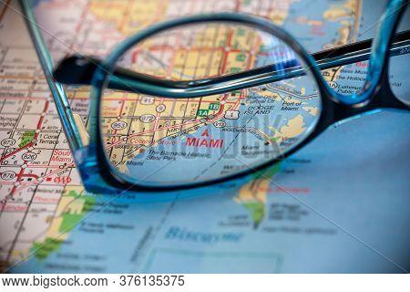 Miami On Map Of Florida