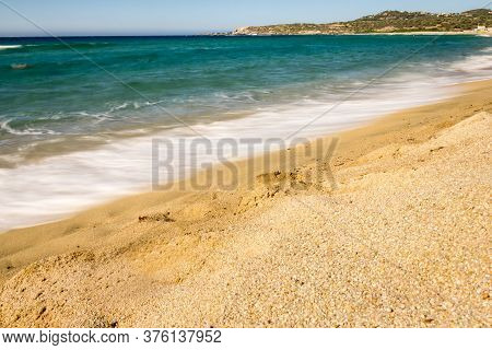 Landscape In The Algajola Beach In Corsica, France