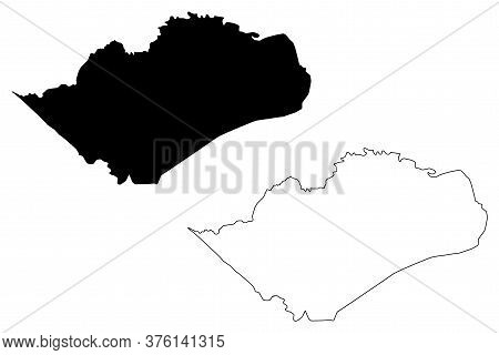 San Miguelito City (republic Of Panama, City And District) Map Vector Illustration, Scribble Sketch