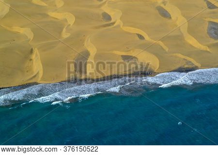The Maspalomas Dunes Aerial Photo, Gran Canara, Canary Islands, Spain