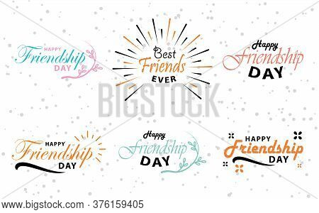 Happy Friendship Day Vector Typographic Colorful Design. Inspirational Quotes. Greeting Card Typogra
