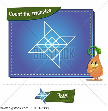 Count The Triangles 25 Brainteaser