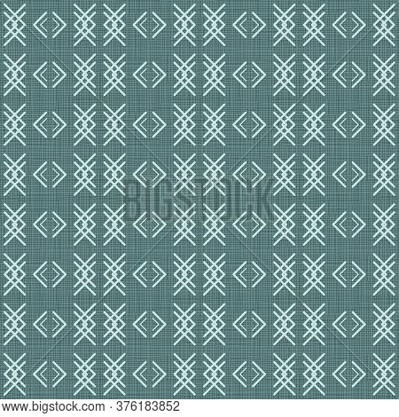 Folk Style Pattern With Hand- And Digitally-drawn Slanting Lines, Strokes And Hatching Vector Seamle