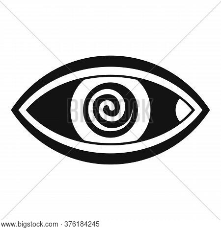 Hypnosis Eye Therapy Icon. Simple Illustration Of Hypnosis Eye Therapy Vector Icon For Web Design Is
