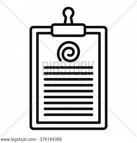 Hypnosis Clipboard Icon. Outline Hypnosis Clipboard Vector Icon For Web Design Isolated On White Bac