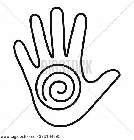 Hand Spiral Hypnosis Icon. Outline Hand Spiral Hypnosis Vector Icon For Web Design Isolated On White