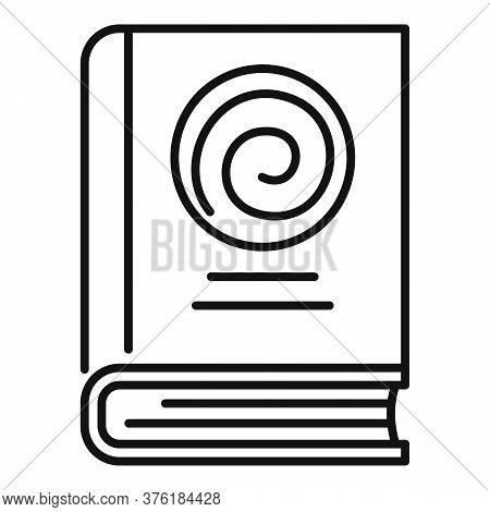 Hypnosis Book Icon. Outline Hypnosis Book Vector Icon For Web Design Isolated On White Background