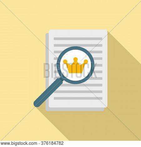 Excellence Paper Report Icon. Flat Illustration Of Excellence Paper Report Vector Icon For Web Desig