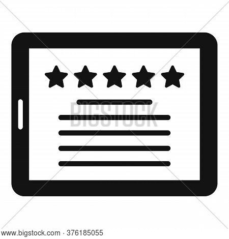 Premium Tablet Icon. Simple Illustration Of Premium Tablet Vector Icon For Web Design Isolated On Wh
