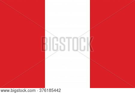 Peru Flag, Official Colors And Proportion Correctly. National Peru Flag.