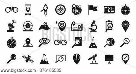 Exploration Icons Set. Simple Set Of Exploration Vector Icons For Web Design On White Background
