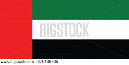 United Arab Emirates Flag, Official Colors And Proportion Correctly. National United Arab Emirates F