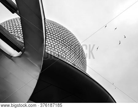 Birmingham - 16 November 2018 - The Bullring Contemporary Architecture In Monochrome, Birmingham, Uk