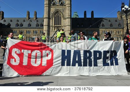 Occupy protest anniversary in Ottawa