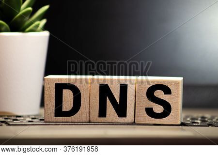 Word Dns Domain Name System On Keyboard Background