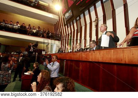Salvador, Bahia / Brazil - February 1, 2017: View Of The Plenary Of The Legislative Assembly Of Bahi