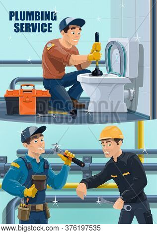 Plumber Workers, Repair And Hydrostatic Test Of Pipes, Plumbing And Water Pipeline Leak Maintenance,