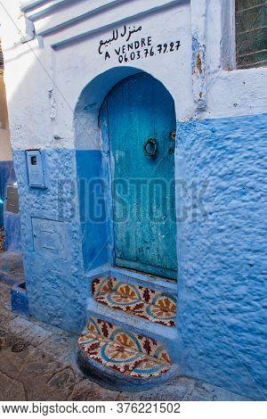 Chefchaouen, Morocco - Oct 14, 2019: Medina Of Chefchaouen. Chefchaouen Or Chaouen Is A City In Nort