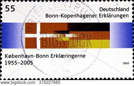 02 08 2020 Divnoe Stavropol Territory Russia The Germany Postage Stamp 2005 The 50th Anniversary Of