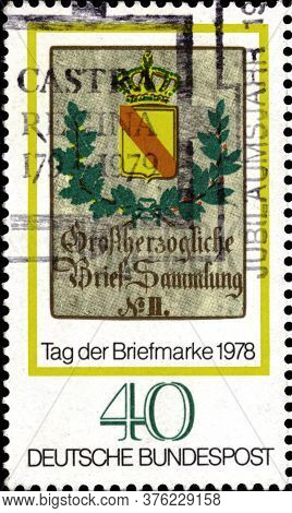 02.11.2020 Divnoe Stavropol Territory Russia The Postage Stamp Germany 1978 Stamp Day World Philatel