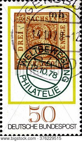 02 11 2020 Divnoe Stavropol Territory Russia The Germany Postage Stamp 1978 Stamp Day World Philatel