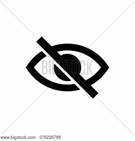 Eye. Sensitive Content Sign. Censored View Icon. Internet Safety Concept, Inappropriate Content. Eye