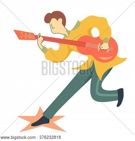 Musicians. Rock Band, Pop Musician. Music Instruments Guitarists. Illustration Music Band, Guitarist