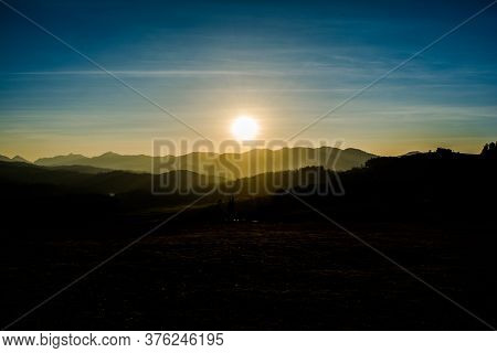 Beautiful Sunset View At Shooting Point Of Ooty Tamilnadu India