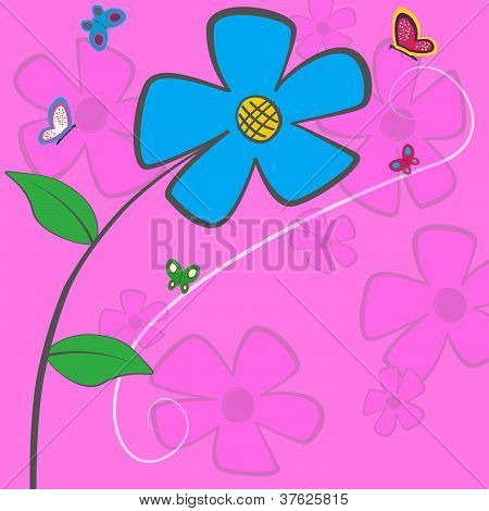 Blue Daisy Card