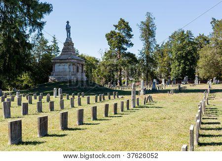 Headstones in Confederate Cemetery of Fredericksburg and Spotsylvania poster