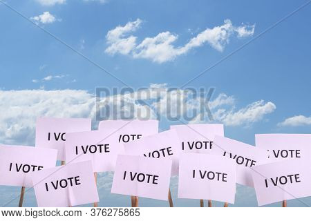 The Declaration Of Going To Vote In The Next Elections