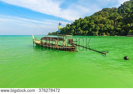 Tropical Waters Of Surin Islands, Andaman Sea, Phang Nga. Fisherman Village In Ko Surin Np. Traditio